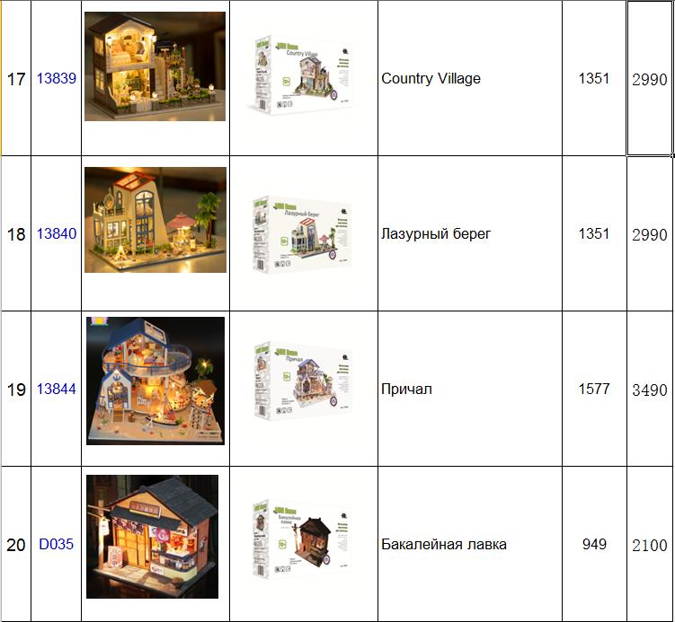 Прайс лист mini house